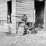 African American Soldiers Aim Poster