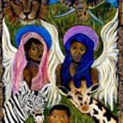 African Angels Poster by The Art With A Heart By Charlotte Phillips