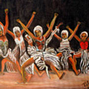 African Dancers Poster