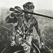 African Warrior Poster