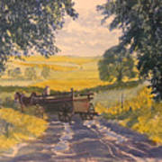 After Rain On The Wolds Way Poster