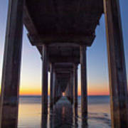 After Sunset At Scripps Pier Poster