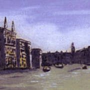 After The Grand Canal From Campo San Vio Near The Rialto Bridge Poster