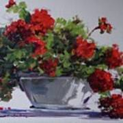 Afternoon Geraniums Poster