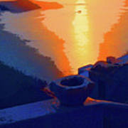 Agean Sunset Poster