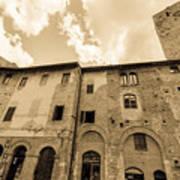 Aged San Gimignano Poster