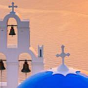 Aghioi Theodoroi Church At Firostefani, Santorini Poster