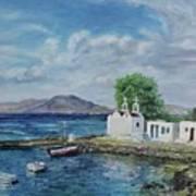 Agios Ioannis Beach, Mykonos Greece Poster