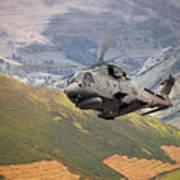 Agusta Merlin Flies The Loop  Poster