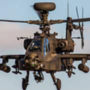 Ah64 Apache Flying Poster by Ken Brannen