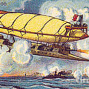 Air Battle, 1900s French Postcard Poster