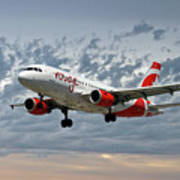 Air Canada Rouge Airbus A319 Poster