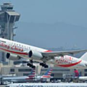 Air China Boeing 777-39ler B-2035 Smiling China Los Angeles International Airport May 3 2016 Poster