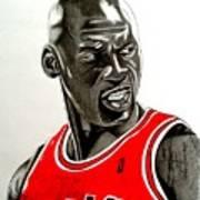 Air Jordan Raging Bull Drawing Poster