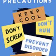 Air Raid Precautions - Ww2 Poster