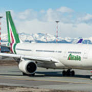 Airbus A330 Alitalia With New Livery  Poster