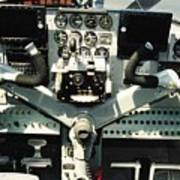 Aircraft Airplane Control Panel Poster