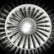 Aircraft Turbofan Engine Poster