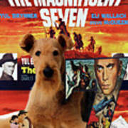 Airedale Terrier Art Canvas Print - The Magnificent Seven Movie Poster Poster