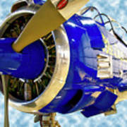 Airplane Propeller And Engine T28 Trojan 02 Poster