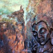Ajanta Buddha Poster