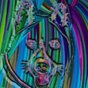Akita Abstract Dog Poster