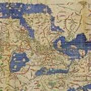 Al-idrisi's World Map, 1154 Poster