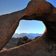 Alabama Hills Window Poster