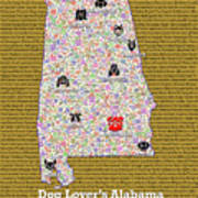 Alabama Loves Dogs Poster