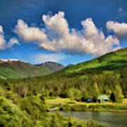 Alaska Digital Paint Poster