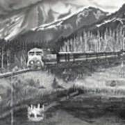 Alaska Railroad Near Whittier Poster