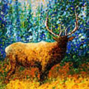 Alaskan Elk Original Madart Painting Poster