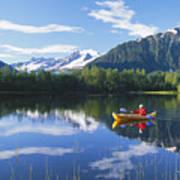 Alaskan Kayaker Poster
