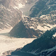 Alasks Glacier Range Denali Nation Park  Poster