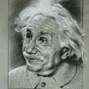 Albert Einstein Poster by Anastasis  Anastasi