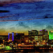 Albuquerque New Mexico Skyline Poster