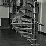 Alcatraz Stairs In Bw Poster