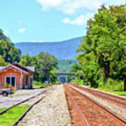 Alderson Train Depot And Tracks Alderson West Virginia Poster