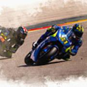 Aleix Espargaro Team Suzuki Ecstar Poster
