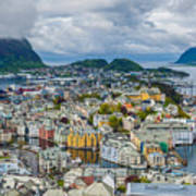 Alesund Norway Cityscape Poster