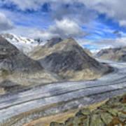 Aletsch Glacier, Switzerland Poster