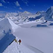 Alex Lowe On Mount Bearskin 2850 M Poster by Gordon Wiltsie