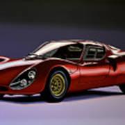 Alfa Romeo 33 Stradale 1967 Painting Poster