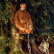 Alfred Berard And His Dog 1881 Poster