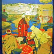 Algeria, Traditional Market, Tourist Advertising Poster Poster
