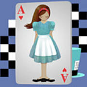 Alice 3d Flying Cards Poster