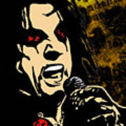 Alice Cooper Illustrated Poster