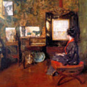 Alice In Studio In Shinnecock Poster