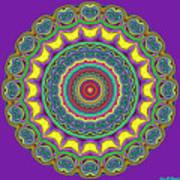 Alien Prayer Circle Poster