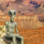Alien Vacation - Grand Canyon Poster
